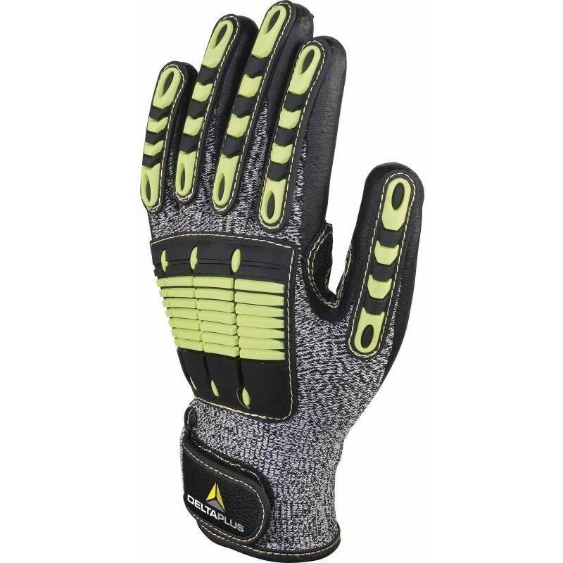 GANT SUPPORT ANTI-COUPURE POLYETHYLENE HAUTE PERFORMANCE PAUME ENDUITE NITRILE - EOS NOCUT VV910JA0 - Taille gants - T9 - Gris/Noir - Delta Plus