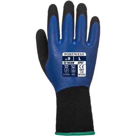 Gant thermique et résistant à l'eau bleu et noir