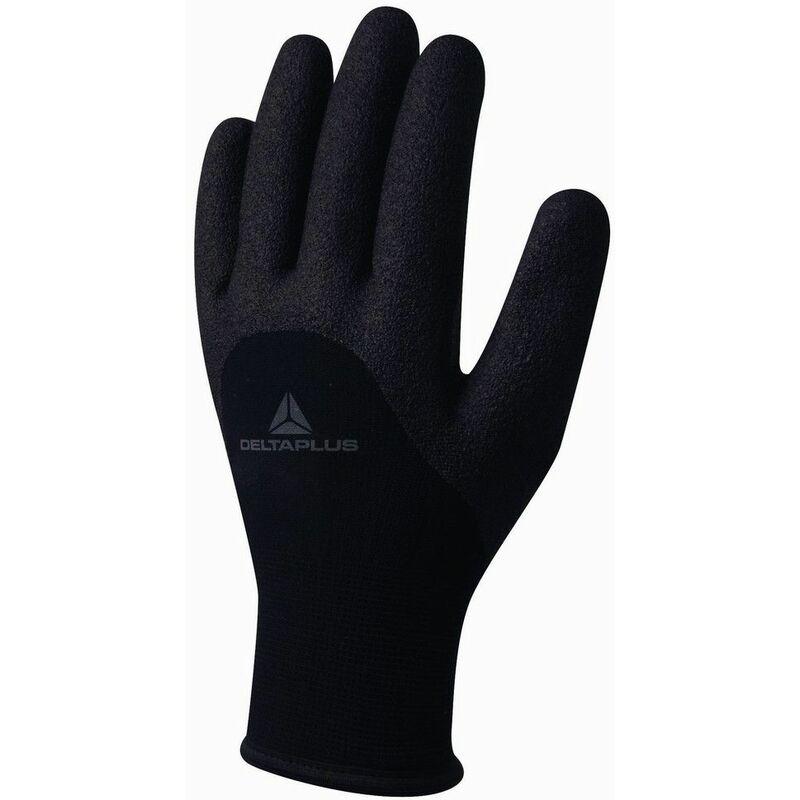 GANT TRICOT ACRYLIQUE/POLYAMIDE - PAUME, DOIGTS ET MI-DOS ENDUIT PVC -VV750NO0 - Taille gants - T10 - Delta Plus