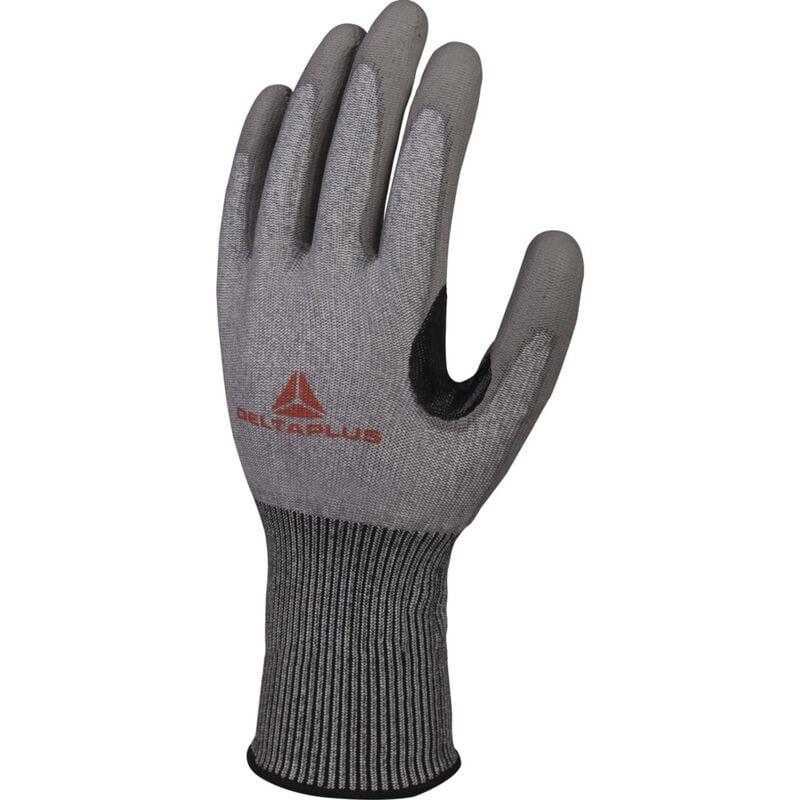 Gant anti-coupure tricot Softnocut - gris - paume enduite PU - La paire T10