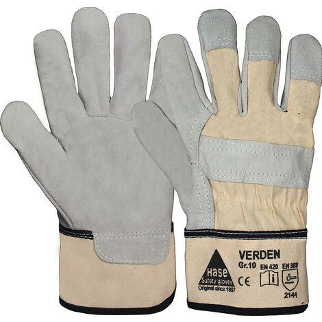 """main image of """"Gant Verden Taille 10 gris/nature croûte de cuir EN388"""""""