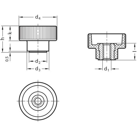 Ganter GN420-M10 Knurled Nuts