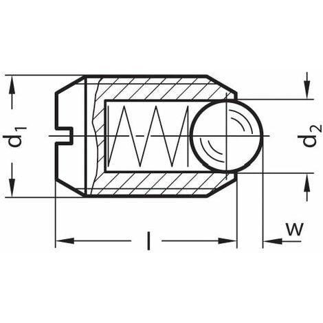 Ganter GN615-M8-KN Spring Plunge R; St/ STEEL; Std-spring
