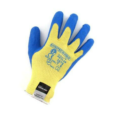 Gants anti coupure kevlar enduit latex bleu Taille L/9 - Jaune