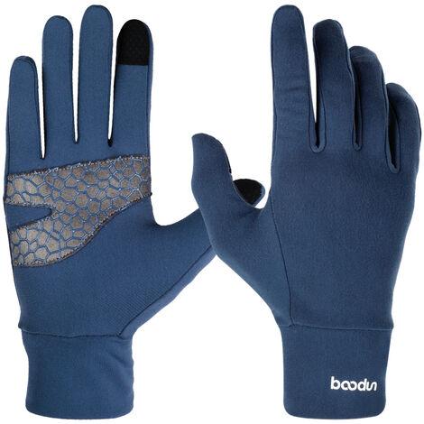Gants Anti-Derapants En Silicone Pour Cyclisme En Exterieur A Ecran Tactile, Bleu Taille S-M