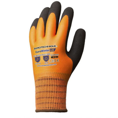 Gants anti-froid Eurotechnique Eurowinter L22 (lot de 5) Orange