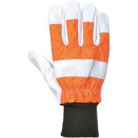Gants bûcheron protection tronçonneuse classe 0 Portwest A290 Orange