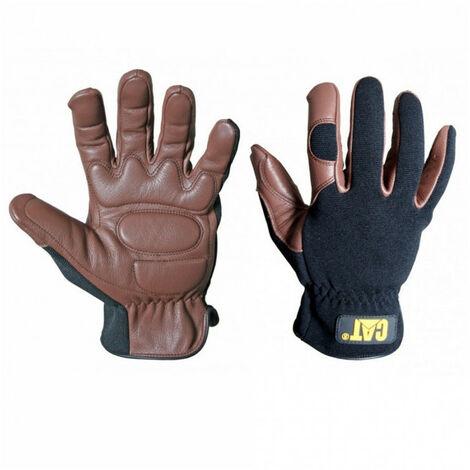 Gants cuir noir/marron CATERPILLAR