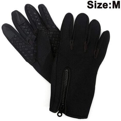 Gants de course à écran tactile pour hommes et femmes - Doublures de gants d'hiver thermiques pour le cyclisme et la conduite - Gants de sport fins, légers et chauds, taille M