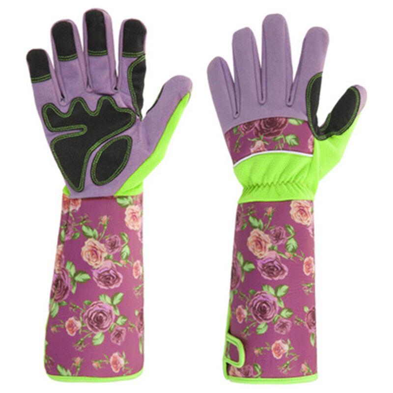 Gants de jardinage à manches longues élagage gants de jardin anti-épines avec protection extra longue de l'avant-bras pour jardinier résistant aux