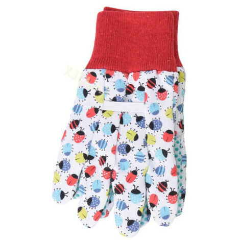 Gants de jardinage - Pour enfant - Taille unique 18cm - Blanc
