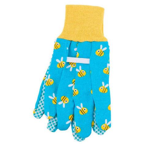 Gants de jardinage - Pour enfant - Taille unique 18cm - Bleu