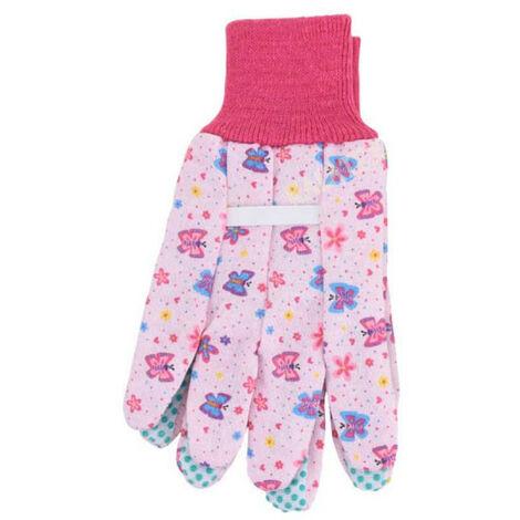 Gants de jardinage - Pour enfant - Taille unique 18cm - Rose