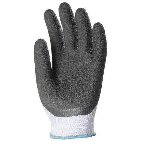 Gants de manutention enduit latex Eurotechnique 3855 (lot de 10 paires de gants) Noir