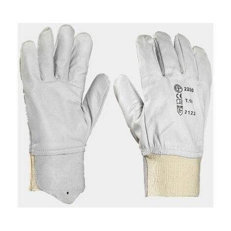 Lot de 2 paires de gants en coton pour femme Blanc Taille 8-8,5