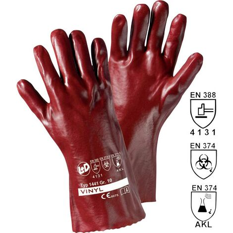 Gants de protection L+D worky 1441 Vinyle EN 388 + EN 374
