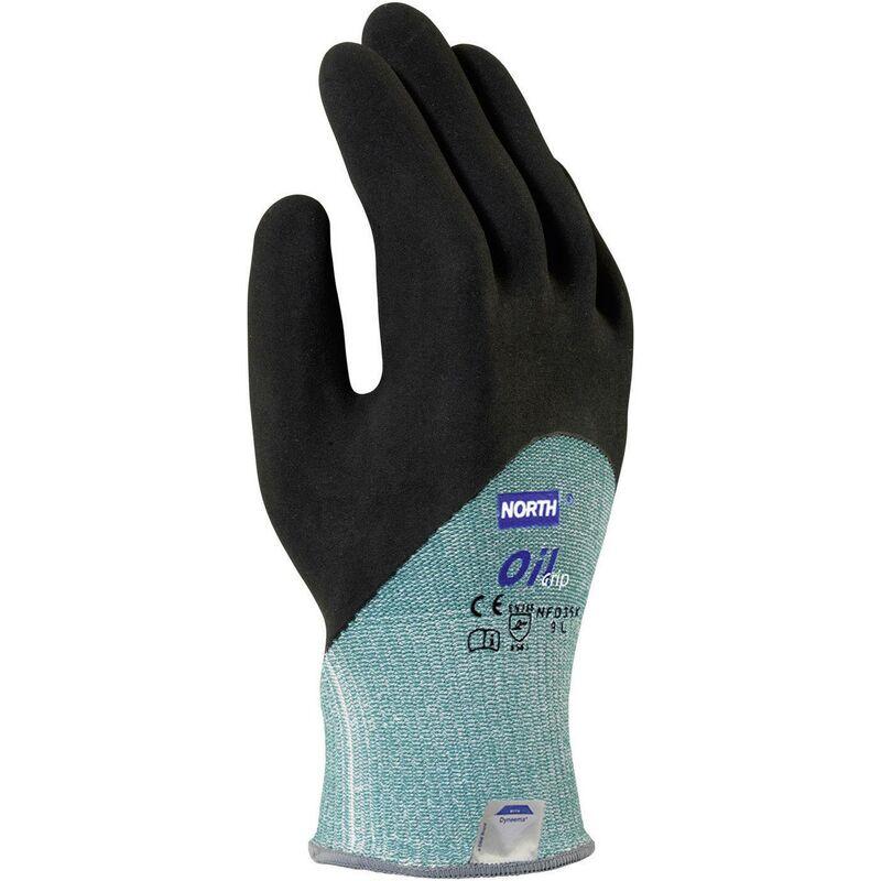 Gants de protection contre les coupures Taille: 8, M Oil Grip NFD35X-8 Nitrile EN 420 , EN 388 1 paire(s) S34119 - North
