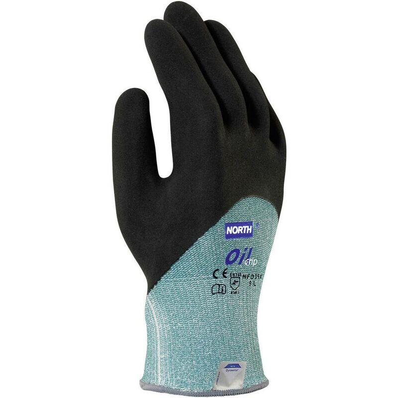 Gants de protection contre les coupures Taille: 9, L Oil Grip NFD35X-9 Nitrile EN 420 , EN 388 1 paire(s) - North