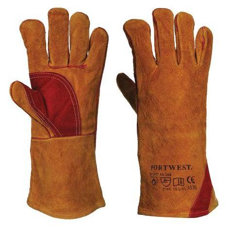 Gants de protection pour soudeur, taille 10,5 - XL, Marron, en Cuir