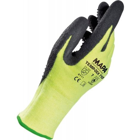 Gants de protection Temp-Dex 710, Taille 7, jaune/noir