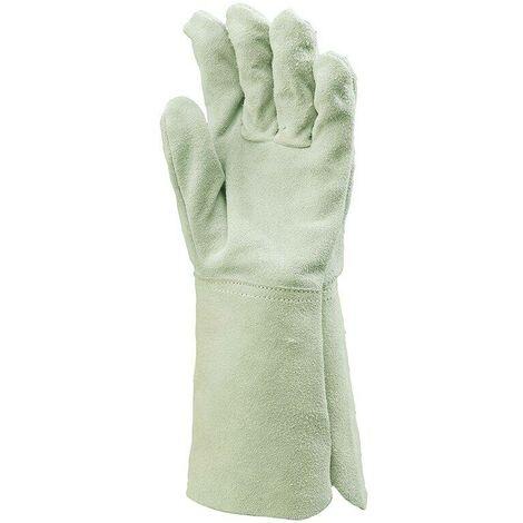 Gants de soudure avec manchette 15cm Eurotechnique 2514 (lot de 12 paires) Gris 10 - Gris