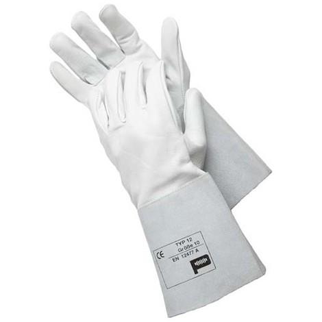 Gants de soudure, cuir fendu Typ 12, 35 cm,Taille 10