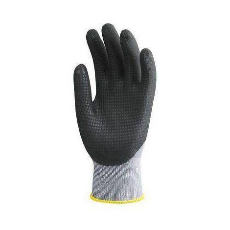 Gants de travail précision Nylon enduit Nitrile Eurotechnique 6250 (lot de 10 paires de gants) Gris