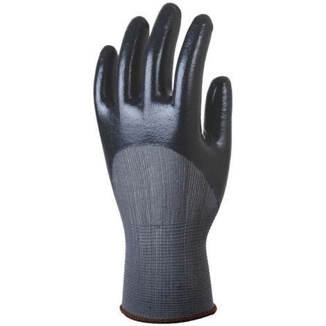 Gants de travail précision Polyamide Enduit Nitrile Eurotechnique 6280 (lot de 10 paires de gants) Noir