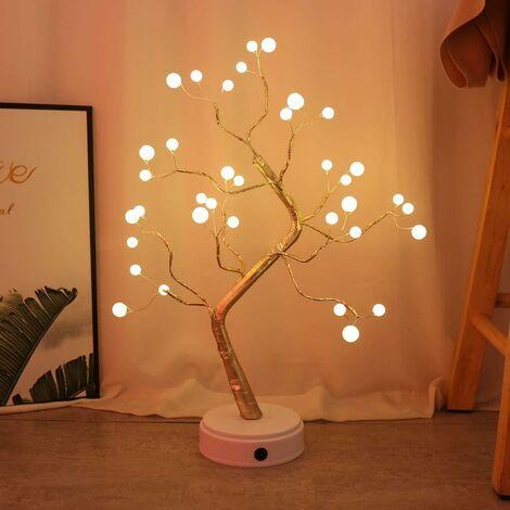 Gants de travail respirants Dames 36LED Lampe de table 3D, fil de cuivre Veilleuse de sapin de Noël pour les enfants d'intérieur Décor Fairy Light