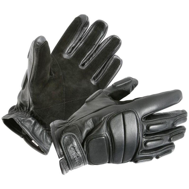 Gants d'intervention cuir CityGuard Noir S