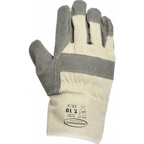 Gants docker premier prix par 2 t10 T10 Blanc et gris