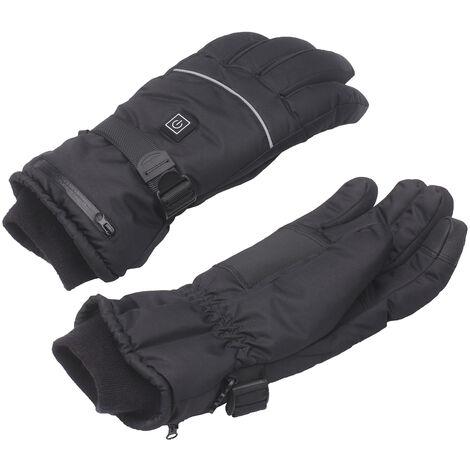 Gants froids chauffants intelligents USB pour hommes et femmes en hiver noir taille L