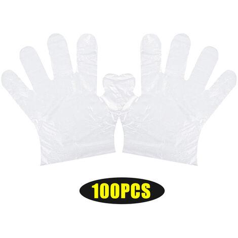 Gants jetables en PE transparent, gants alimentaires sans latex, surs et hygieniques, adaptes aux enfants 100PCS / sac
