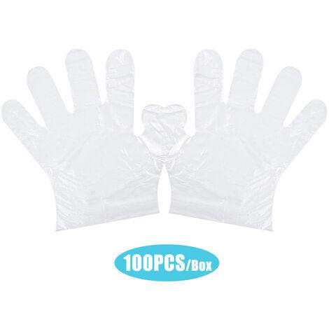 Gants jetables en PE transparent, gants de s¨¦curit¨¦ pour la pr¨¦paration des aliments, sans latex