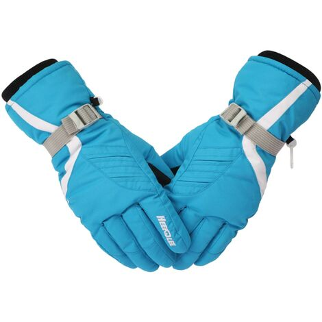 Gants Matelasses Froids Et Chauds Pour Femmes, Gants De Ski Outdoor, Bleu
