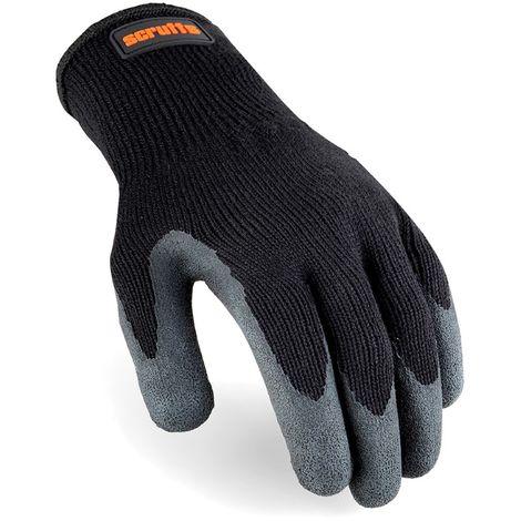 Gants noirs à revêtement latex Taille L