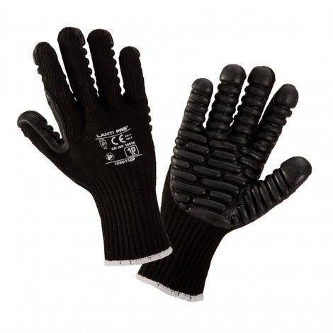 Gants noirs anti-vibrations, l290110p, carte, 10, qui, lahti