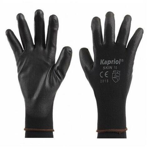 Gants pour travaux de précision SKIN noir (x12 paires) KAPRIOL