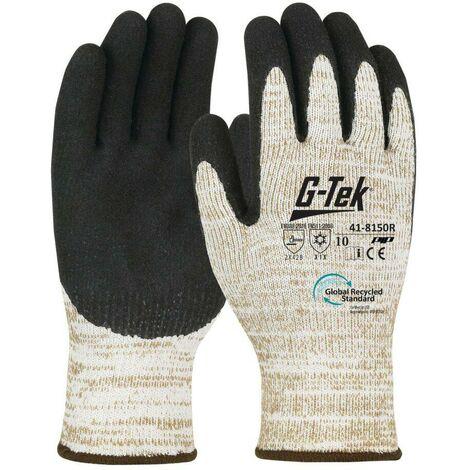 Gants recyclés anti-froid ENDUCTION LATEX G-TEK 3RX (lot de 6 paires) Beige / Noir 8