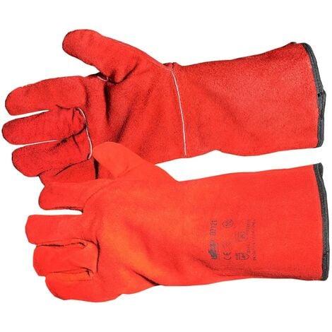 Gants soudeur anti chaleur THERMAL Rouge CONFORT- taille 10