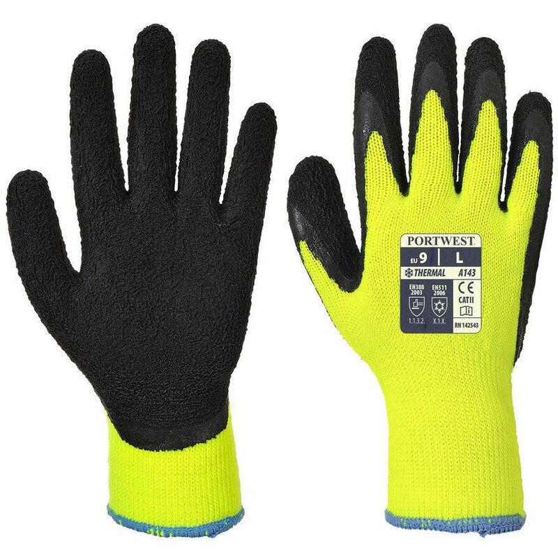 Gants thermique Soft Grip Jaune 9 - Portwest