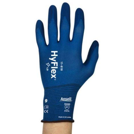 Gants tricotés enduits HyFlex® 11-818 taille 9 en boite de 12 paires