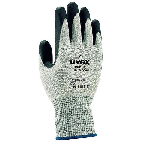 gants uvex anti-coupure unidur 6659 foam EN 388 -4543 C Noir 7