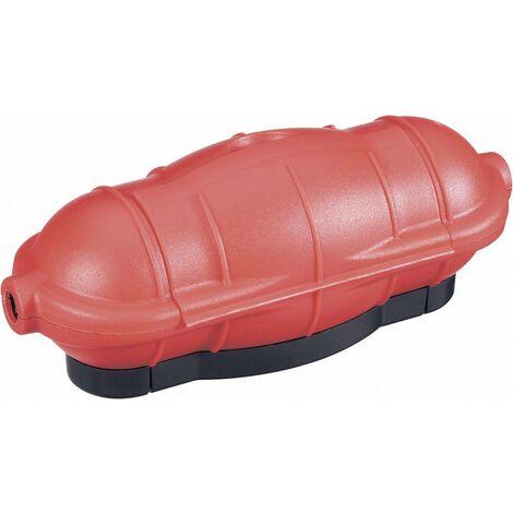GAO 0391 Steckerbox 1fach Rot X55409