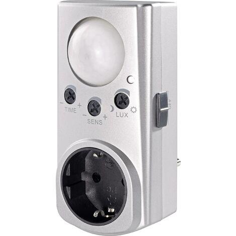 GAO EMP600PIR Zwischenstecker PIR-Bewegungsmelder 120° Relais Silber IP20 X97459