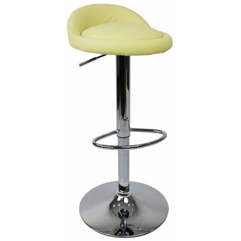 Gaor Adjustable, Cream Breakfast Bar Stool - Faux Leather, Padded Swivel Seat