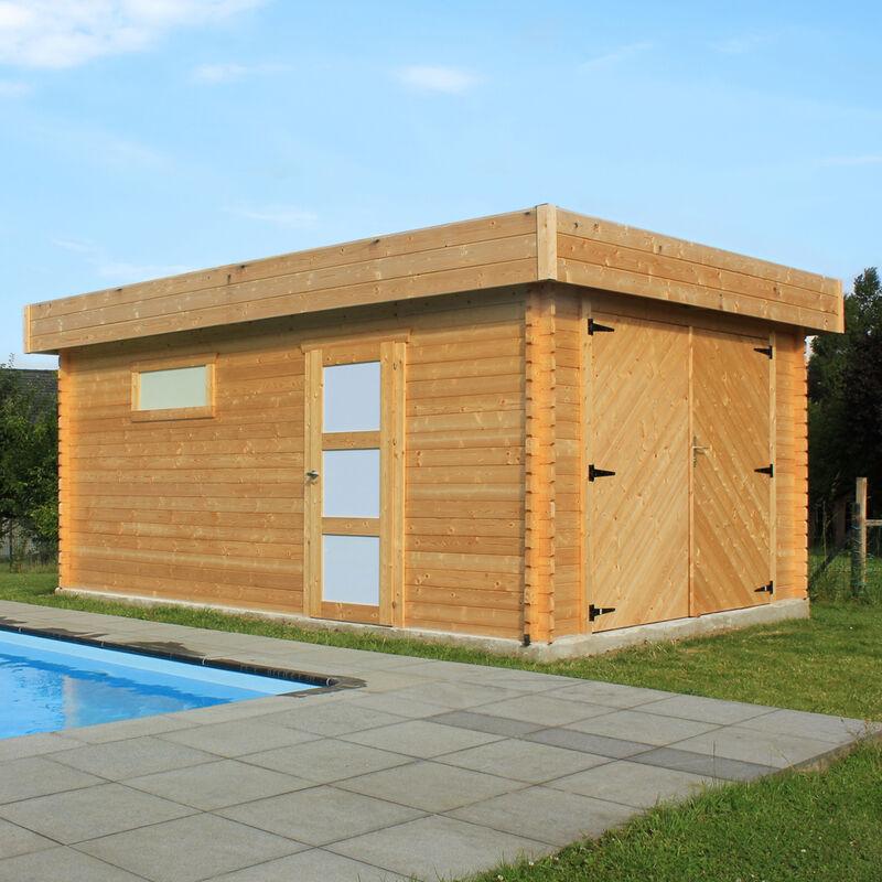 Garage box modern 358 x 538 x 256 h cm con porte battenti for Arredamenti onlywood