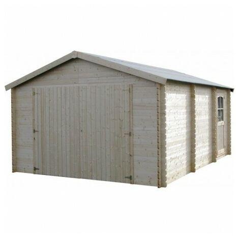 Garage de madera Garodeal Decor et Jardín 34mm