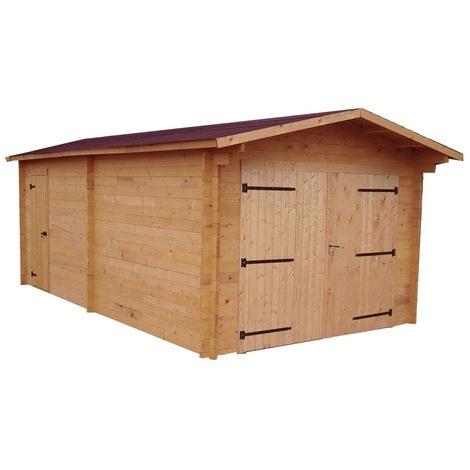 Garage DENIS madriers Douglas 28 mm 23,94 m²
