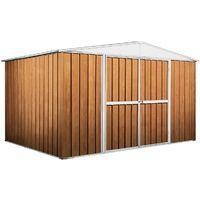 Garage deposito attrezzi Box in Acciaio Zincato 360x260cm x h2.12m - 130KG – 9,1mq - LEGNO